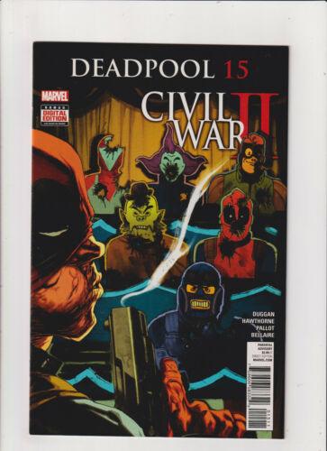 Deadpool #15 NM- 9.2 Marvel Comics Civil War II 2016