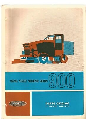 Wayne 900 Street Sweeper Parts Manual