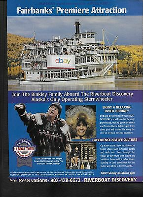 RIVERBOAT STERNWHEELER DISCOVERY FAIRBANKS ALASKA PREMIERE ATTRACTION TANANA AD