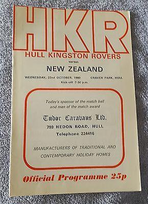 Hull Kingston Rovers vs. New Zealand - 22/10/1980
