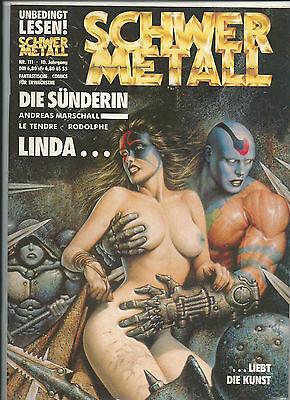 Schwermetall Magazin 111: Fantastische Comics für Erwachsene - Top-Zustand ()