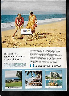 Hilton Hotels Hawaii Sandcastles On Kaanapali Beach Maui Kona Hilton  Village Ad