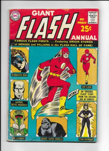 Giant Flash Annual #1 (VG+) (1963, DC) Nice!