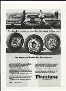 1971 Firestone Tires Print Ad ~ Sports 500 ~ Wide Oval 60 ~ Wide Oval 70