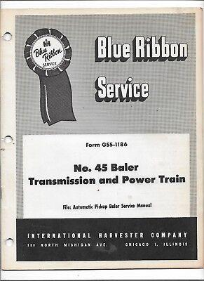 Original International 45 Baler Transmission Power Train Service Manual Gss-1186