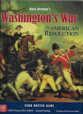 NEW & SEALED - GMT GAMES WASHINGTON'S WAR The American Revolution reprint](Revolution Game)
