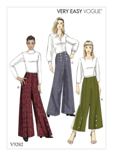 V9282 Vogue 9282 Sewing Pattern Very Easy HIGH-WAISTED PANTS Sz 6-22 31664472964