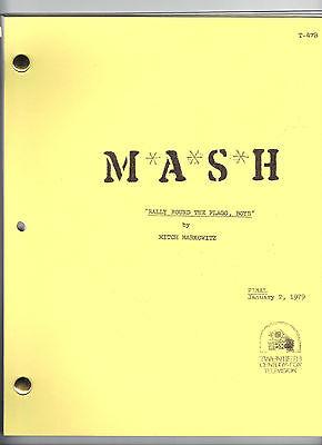 "M*A*S*H script ""Rally Round The Flagg, Boys"""