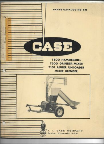 Original OE Case T500 Hammermill Grinder Mixer T101 Auger Unloader Parts Catalog