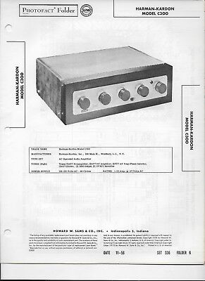 1956 PHOTOFACT Harman-Kardon Audio Amplifier Model C300 Manual #490, used for sale  Wooster