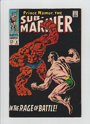 Sub-Mariner #8 (Dec 1968, Marvel) F/VF (7.0) Sub-Mariner vs. The Thing !!!!