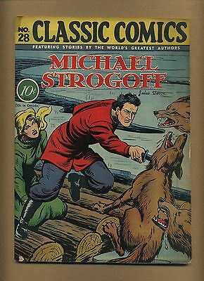 Classic Comics 28 Original  Fr  Coupon Cut Bc  Michael Strogoff  Id  11161