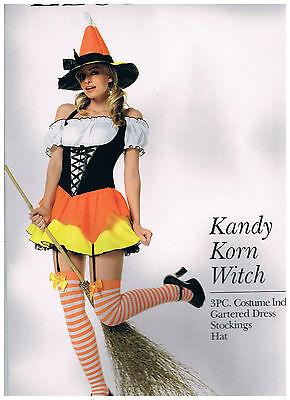 Kandi Halloween Costume (LEG AVENUE HALLOWEEN COSTUME  KANDY KORN WITCH SIZE S )