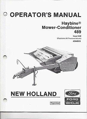 New Holland 489 Hay-bine Mower-conditioner Operators Manual 42048918