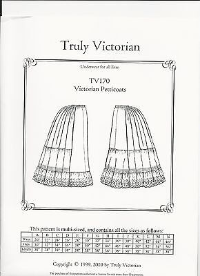 Schnittmuster Truly Victorian TV 125 1879 Petticoat with Detachable Train