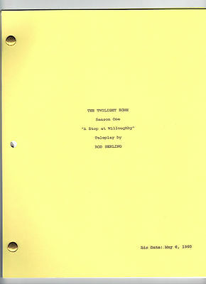 """THE TWILIGHT ZONE  show script """"A Stop at Willoughby"""""""