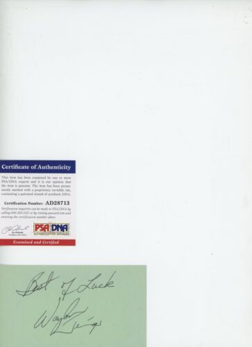 WAYLON JENNINGS In Person Autograph PSA SIGNED 3X5 Index Card PSA/DNA #AD28713