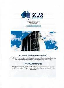 ELECTRICAL SOLAR SYSTEM FOR COMMERCIAL PROPERTIES / BUSINESSES Scoresby Knox Area Preview