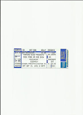 GODSMACK  UNUSED CONCERT TICKET EXCELLENT CONDITION FREE SHIPPING