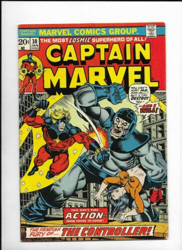 Captain Marvel 30, 1973, NM, 9.0, Stan Lee, THANOS, Controller, Bronze age era