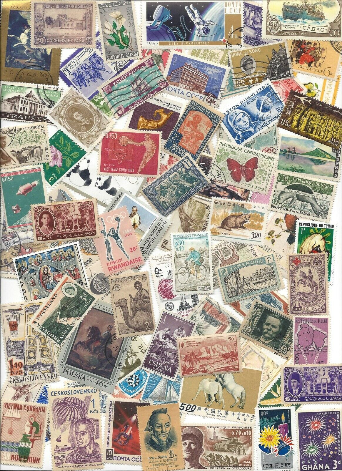 75 Different Cancelled Worldwide Stamps 2/13A - $3.00