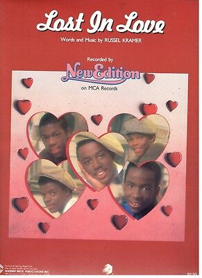 """NEW EDITION """"LOST IN LOVE"""" SHEET MUSIC-1985-PIANO/VOCAL/CHORDS-RARE-NEW ON SALE!"""