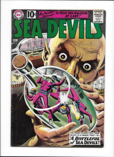 """SEA DEVILS  #2  [1961 VG+]  """"A BOTTLEFUL OF SEA DEVILS!"""""""