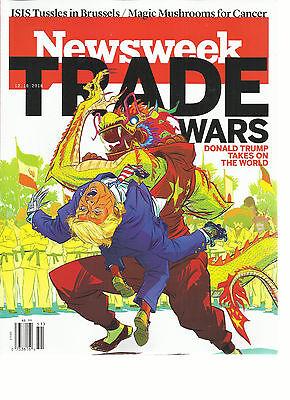 NEWSWEEK WEEKLY MAGAZINE, 2016   TRADE WARS *  DONALD TRUMP TAKES ON THE WORLD