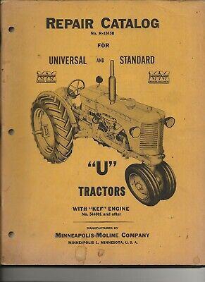 Minneapolis-moline U Tractor Repair Catalog R-1045b -universal Standard Wkef