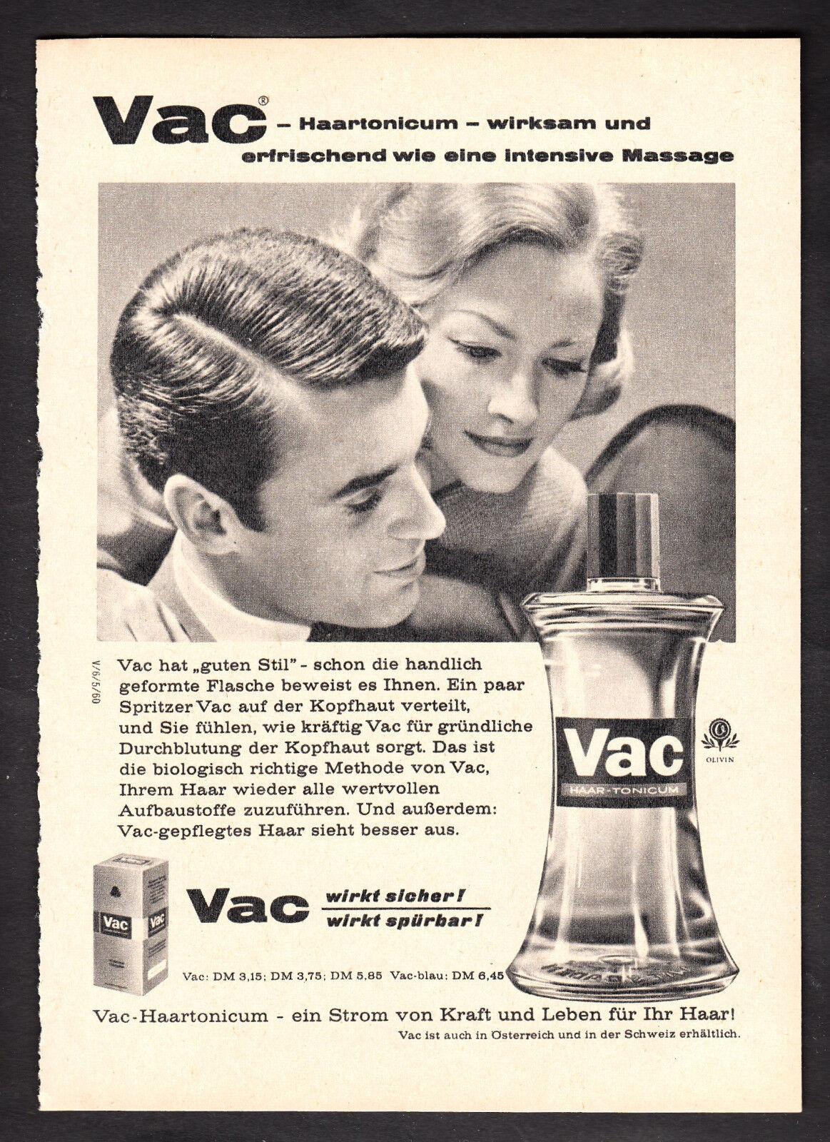 3w2288/ Alte Reklame von 1960 - VAC Haartonicum - Ihr Haar braucht es!