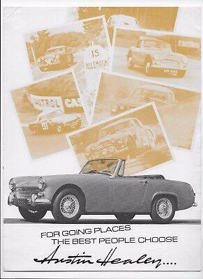 1967 Austin-Healey car brochure: Austin-Healey Sprite Mk. IV & 3000 Mk. III