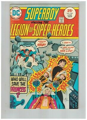 Superboy Legion of Super-Heroes 209  Karate Kid New Costume VG/F 1975