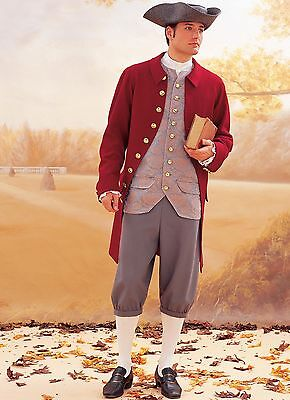 B3072 Sewing Pattern Men Costumes Colonial French Revolution Military Hamilton