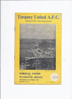 Torquay United v Plymouth Argyle 23 March 1957
