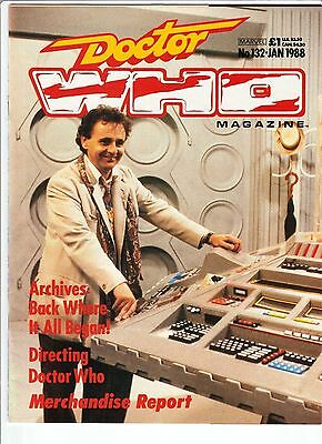 DOCTOR WHO Periodical #132 SYLVESTER McCOY Origins Of The Doctor 1988 FN