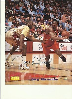 AUTOGRAPHED  CORY ALEXANDER SIGNATURE ROOKIES 8 X 10  PHOTO VIRGINIA