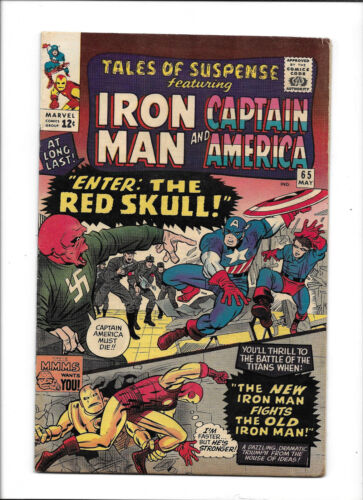 TALES OF SUSPENSE #65 [1965 VG+] 1ST SILVER AGE RED SKULL!