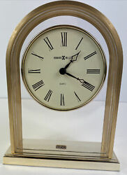Howard Miller Reminisce 613-128 Table Clock Brass Finished Arch