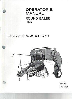 New Holland 846 Round Baler Operator Manual 42084612