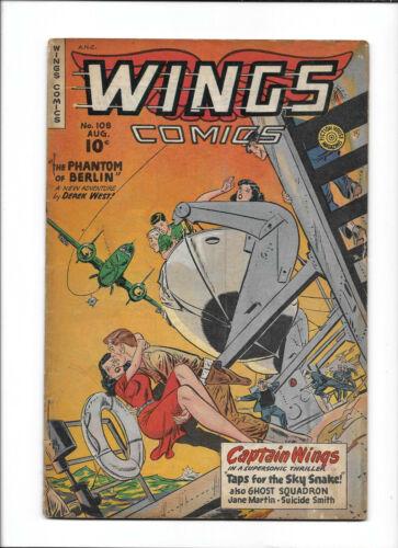 "WINGS COMICS #108 [1949 VG+] ""THE PHANTOM OF BERLIN"""