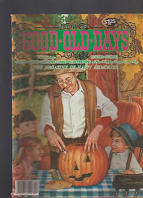 Good Old Days Magazine October 1983 Carving Jack O'Lantern Halloween Cover