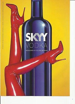 "SKYY ""red legs image"" Vodka-  2011 print magazine ad"