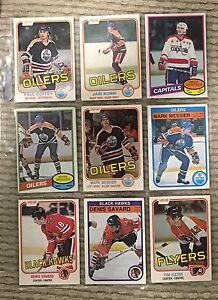 Lot of 27 early 80's rookie hockey cards - great deal!