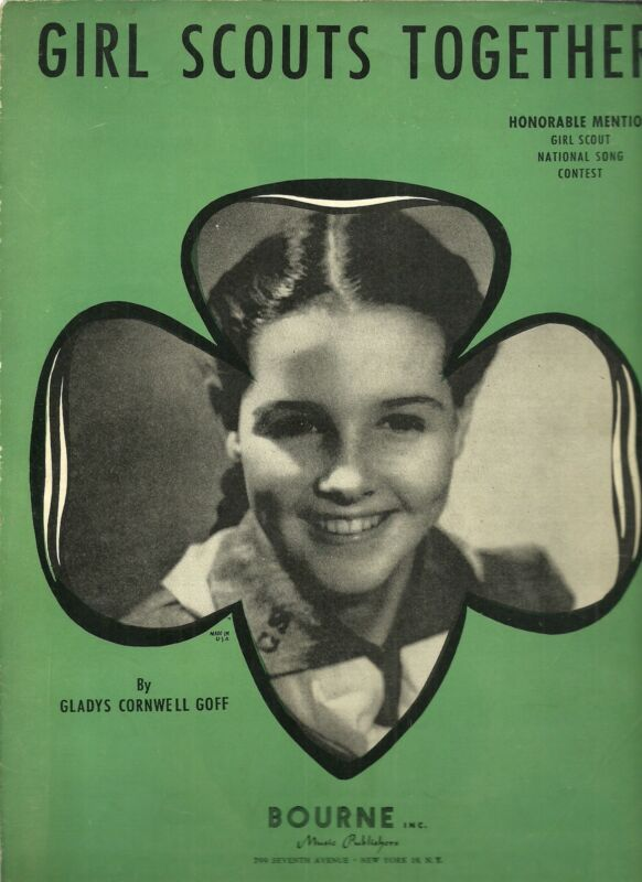 VINTAGE GIRL SCOUT 1941 SHEET MUSIC - GIRL SCOUTS TOGETHER