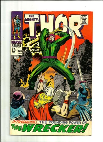 THE MIGHTY THOR #148 (1968, Marvel) Wrecker Silver Age Comic