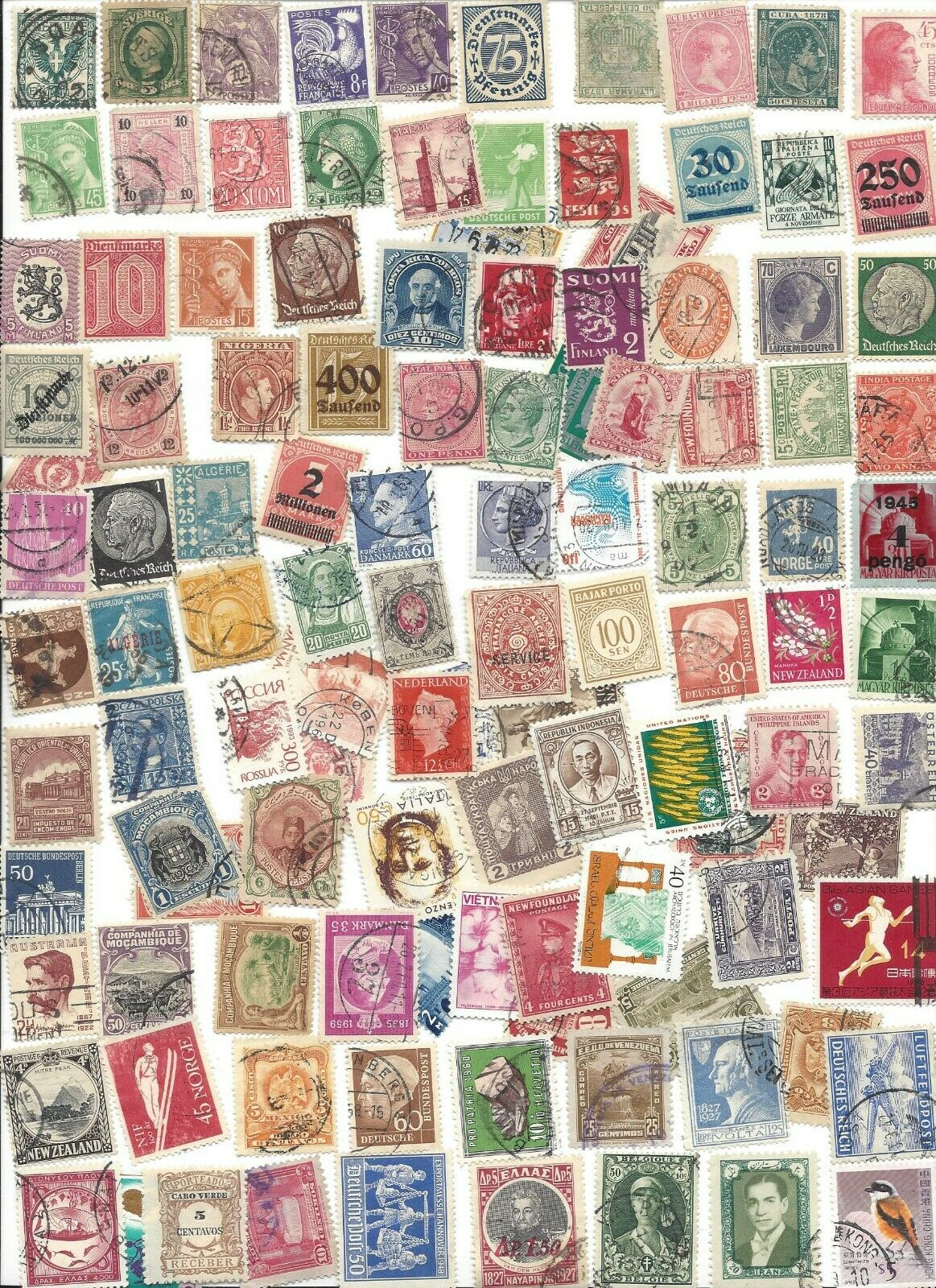 100 Different Cancelled Worldwide Stamps8/19CC - $2.25