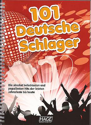 Keyboard Gitarre Gesang Noten - 101 Deutsche Schlager -
