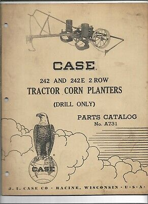 Original 051957 Case 242 242e 2 Row Tractor Corn Planters Parts Catalog A731