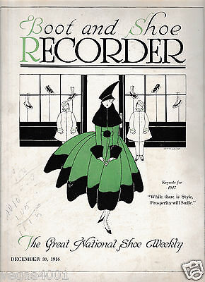 ***Boot and Shoe Recorder DECEMBER 30, 1916; The Magazine of Fashion Footwear