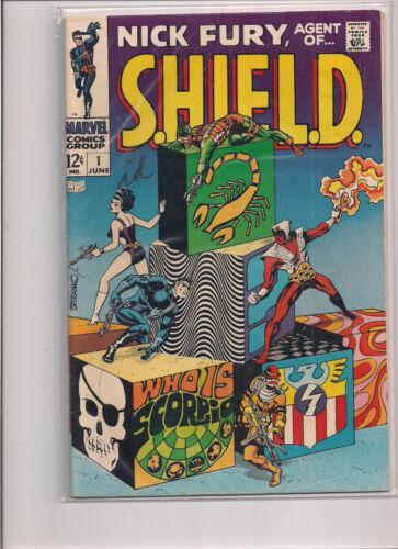 Nick Fury Agent of SHIELD #1 First Printing Original 1968 Comic Book.